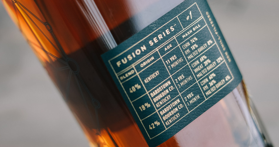 Bardstown Bourbon Company Fusion Series #1 side label