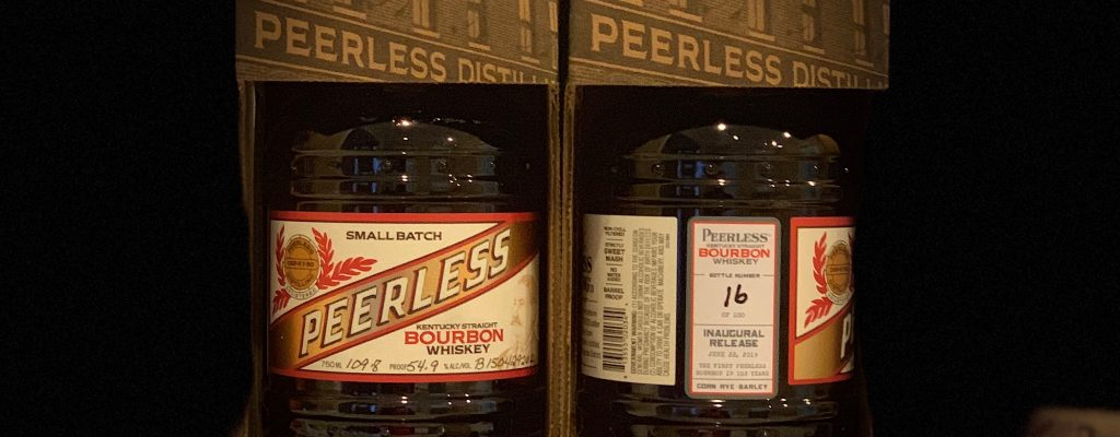 Peerless Bourbon Inaugural Release Bottles