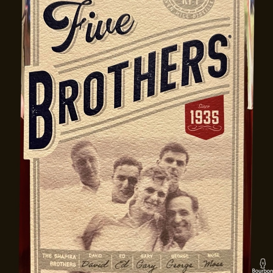 Five Brothers Bourbon Review Front Label
