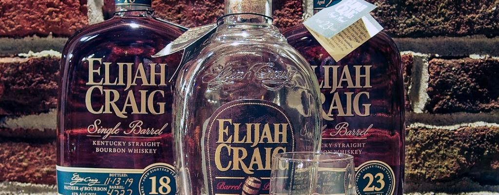 Elijah Craig Barrel Proof, Elijah Craig 18 & Elijah Craig 23